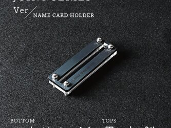 Joint Series Namecard Holder 名刺スタンド (アクリル × 黒皮鉄) - GRAVIRoNの画像