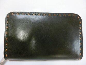 ミニラウンドファスナー財布(ダークグリーン)の画像