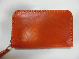 ミニラウンドファスナー財布(オレンジ)の画像
