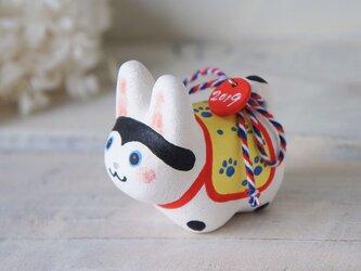 陶器の小さなカラフル犬張り子*Eの画像