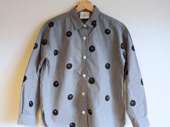 ギンガムチェックシャツ・ドット椿の画像