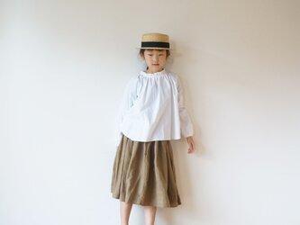Linen waist gather skirt 3(120cm~),4(140cm~)sizeの画像