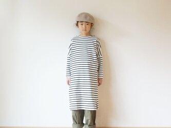 Cotton drop shoulder one piece kids 3(120cm~),4(140cm~)sizeの画像