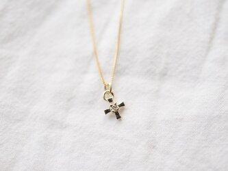 [10K]cross diamondネックレスの画像
