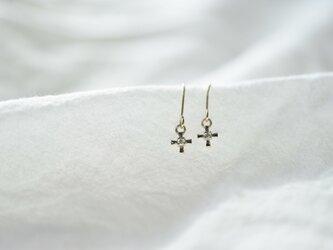 [10K]cross diamondピアスの画像