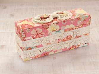 リボンのクラッチボックス(ピンク)の画像