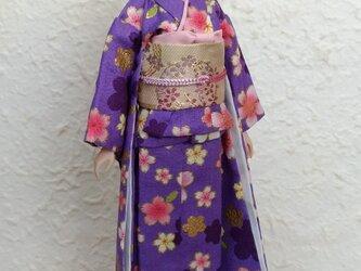 27cmドール着物 小紫の画像