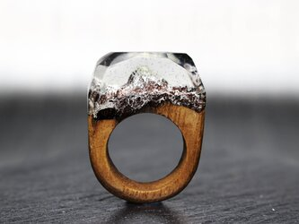 【送料無料】Everest ~Resin Wood Ring~の画像