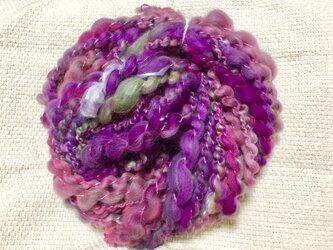 【手紡ぎ糸(スピンドル)の販売です✨】  メリノウール シルク その他 44gの画像
