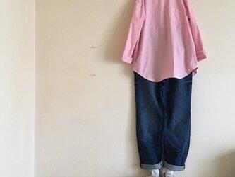 コットン100シンプルブラウス(ピンク)の画像