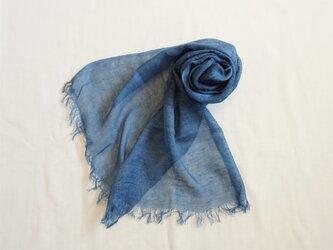 藍染 シルクネップストール 浅葱の画像