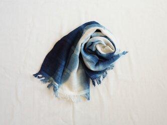 【受注制作】藍染 タオルマフラー グラデーションの画像