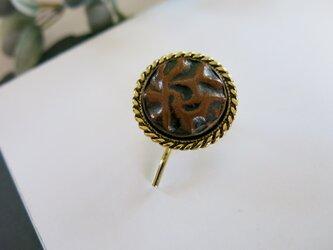 レザーのような、ドイツ製ボタンのシンプルポニーフック ライトブラウン インポートの画像
