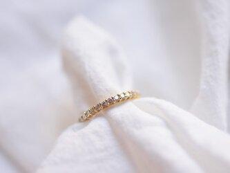 [18K]三日月のリング~ダイヤモンドエタニティ~の画像