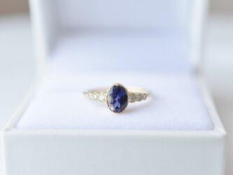 [18K]月華 アイオライトとダイヤモンドのリングの画像