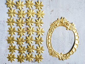 germany embosspaper frame(gold)&star Setの画像
