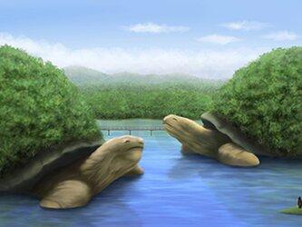 フルスクリーンB5ポスター「水境」(額装済み)の画像