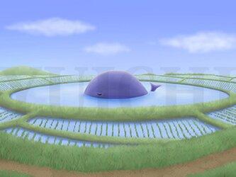 フルスクリーンB5ポスター「ため池の住人」(額装済み)の画像