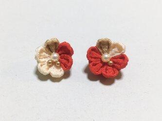お花のイヤリング/ピアス【3月】の画像