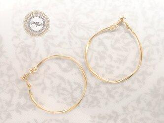 イヤリング[Queen size hoop/Gold]の画像