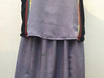 ボレロ風チュニック&スカートセット(着物リメイク)の画像