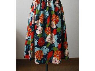 【sale】USAコットン 花柄のスカート(F)の画像