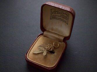 タティングレース  gold flower ネックレストップ 受注制作の画像