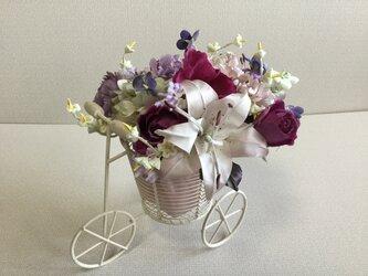 自転車の花籠の画像