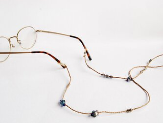 《グラスコード》ブルーグレーチェコビーズの画像