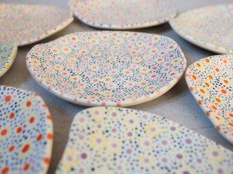 オーバルの豆皿_ピンク色の画像