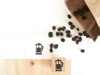 coffeeのアイコンはんこ『コーヒープレス』の画像