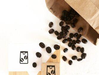 coffeeのアイコンはんこ『コーヒー豆(袋)』の画像