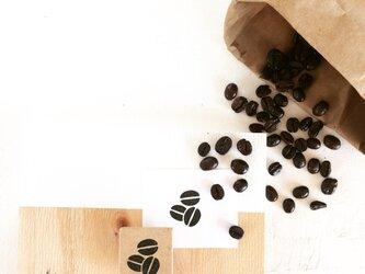 coffeeのアイコンはんこ『コーヒー豆』の画像