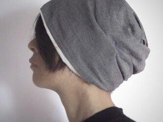ターバンな帽子 ダンガリー+生成 送料無料の画像
