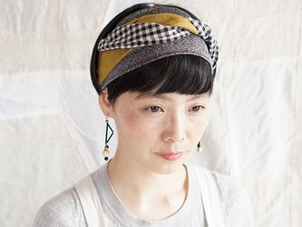 patchwork turban (cotton×linen mix 19ss-c)の画像
