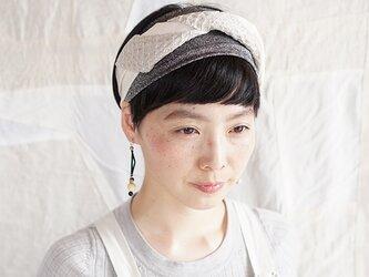 patchwork turban (cotton×linen mix 19ss-e)の画像
