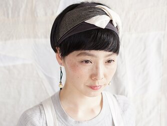patchwork turban (cotton×linen mix 19ss-f)の画像