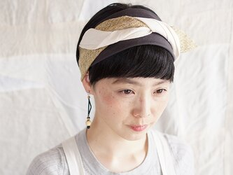 patchwork turban (cotton×linen mix 19ss-g)の画像