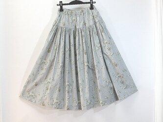ウエストゴムのリボンスカート(グレー)の画像