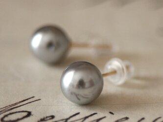 卒業式/入学式にも*14kgf上質日本製パールピアス シルバー 卒園式 入園式 ウエディング 結婚式 真珠 披露宴 ブライダルの画像