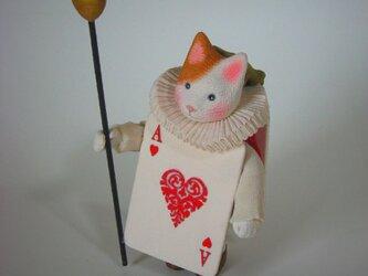 縮緬福猫 ハートのAの画像