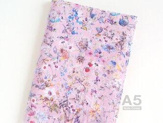 リバティ A5 ノートカバー ワイルドフラワーズ ピンク ほぼ日 カズンの画像