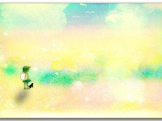 「道草の途中」 ほっこり癒しのイラストポストカード2枚組No.749の画像