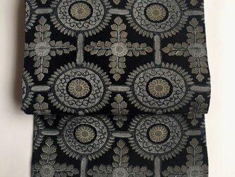 二色型染めの古布の名古屋帯【送料無料】の画像