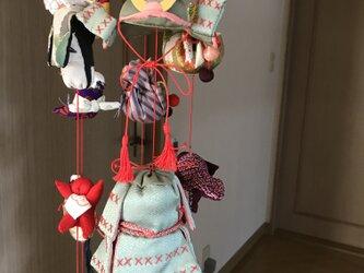 ヴィンテージ着物の吊るし飾り  端午の節句の画像