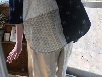 久留米絣と浴衣からラグラン袖トップスの画像