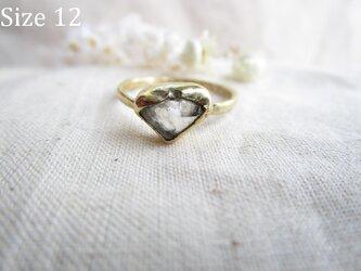 【再販】真鍮 水晶 カケラ リングの画像