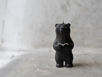order G様:bear and book pendantの画像
