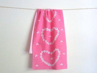 humming heart てぬぐい(pink)の画像