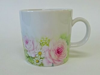 花のマグカップE(手描き)の画像